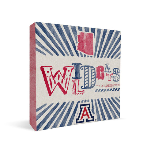 Arizona Wildcats State Square Shelf Block