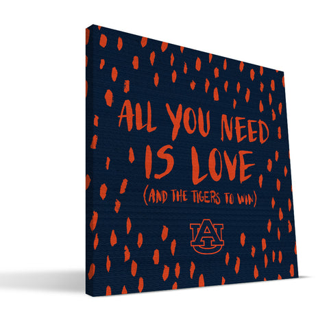 Auburn Tigers All You Need Canvas Print