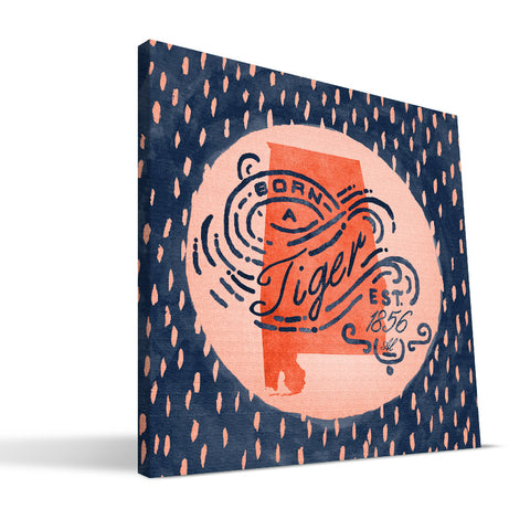 Auburn Tigers Born a Fan Canvas Print