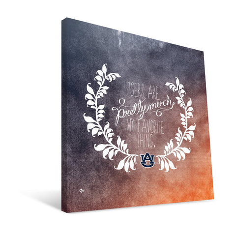 Auburn Tigers Favorite Thing Canvas Print