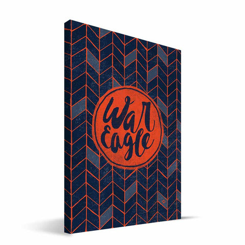 Auburn Tigers Geometric Canvas Print