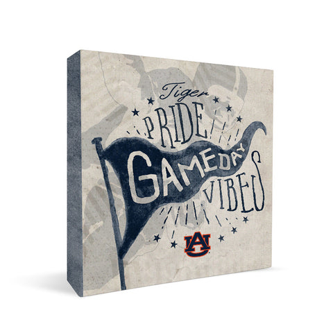Auburn Tigers Gameday Vibes Square Shelf Block