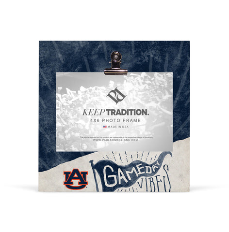 Auburn Tigers Gameday Vibes Picture Frame with Clip