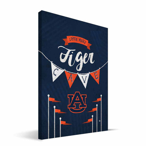 Auburn Tigers Little Man Canvas Print