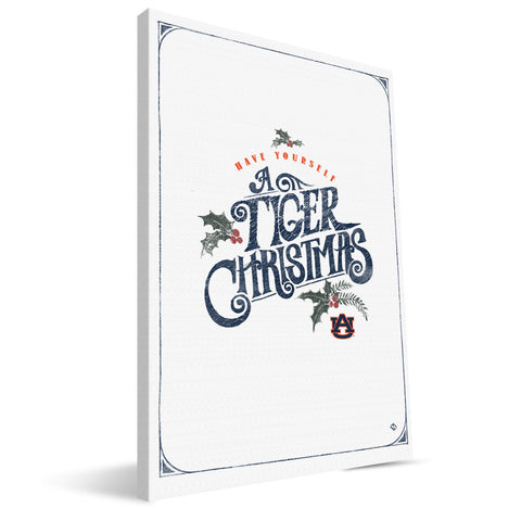 Auburn Tigers Merry Little Christmas Canvas Print