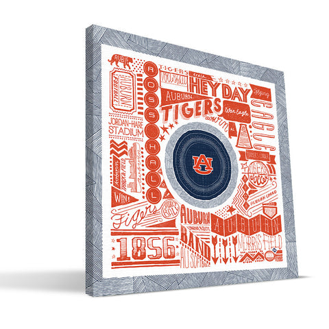 Auburn Tigers Pictograph Canvas Print