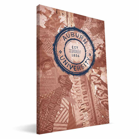Auburn Tigers Scrapbook Canvas Print