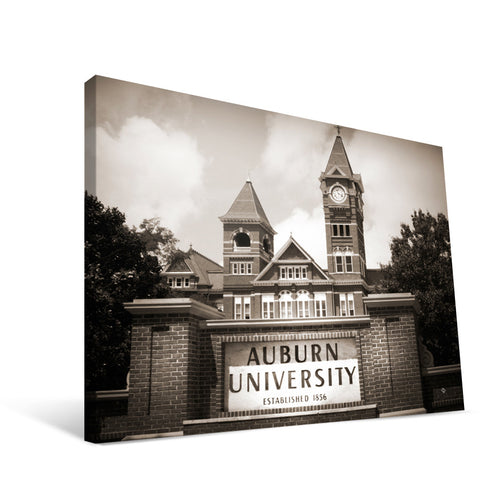 Auburn Tigers Samford Hall Canvas Print