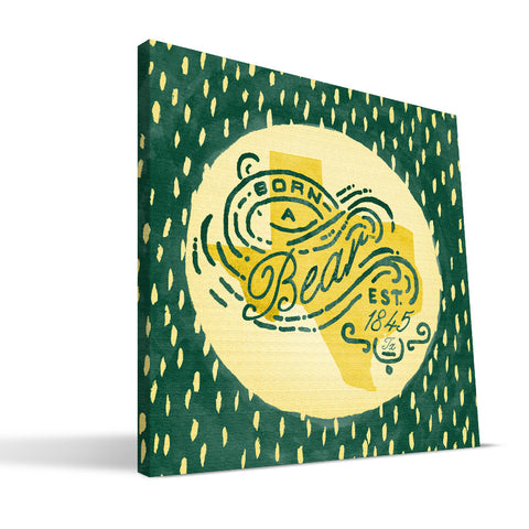 Baylor Bears Born a Fan Canvas Print
