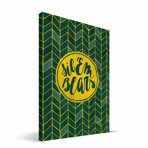 Baylor Bears Geometric Canvas Print