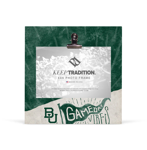 Baylor Bears Gameday Vibes Picture Frame with Clip