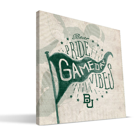 Baylor Bears Gameday Vibes Canvas Print