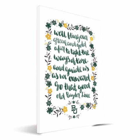 Baylor Bears Hand-Painted Song Canvas Print