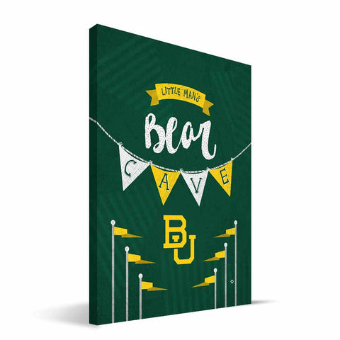 Baylor Bears Little Man Canvas Print