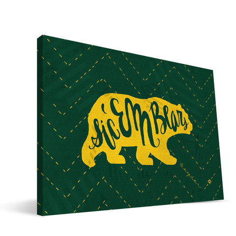 Baylor Bears Mascot Canvas Print