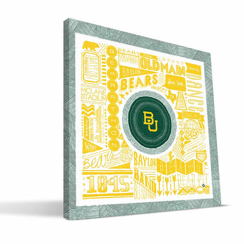 Baylor Bears Pictograph Canvas Print