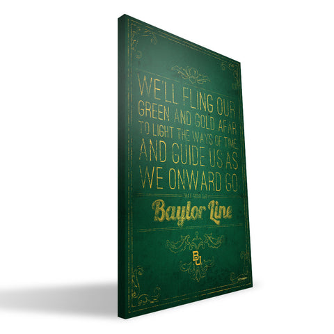 Baylor Bears Song Canvas Print