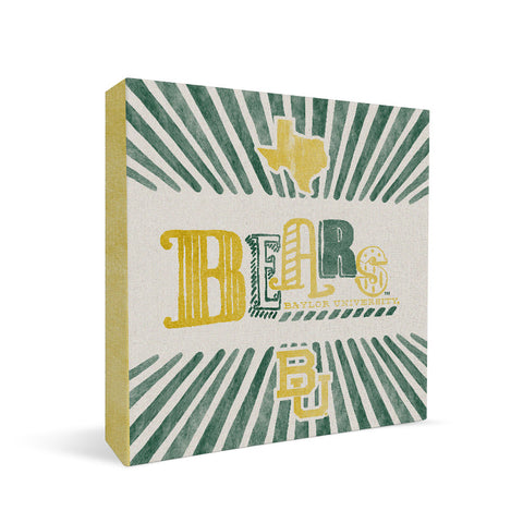 Baylor Bears State Square Shelf Block