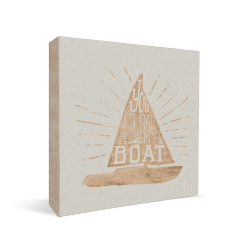 You Float My Boat Square Shelf Block