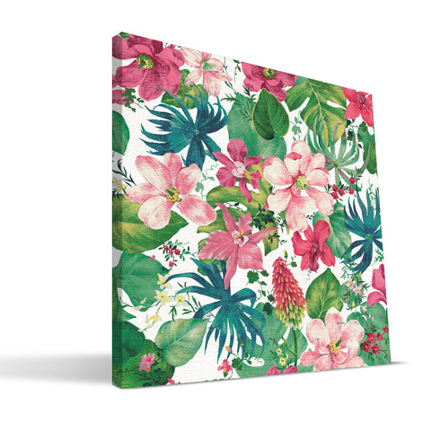 Tropical Flowers Canvas Print