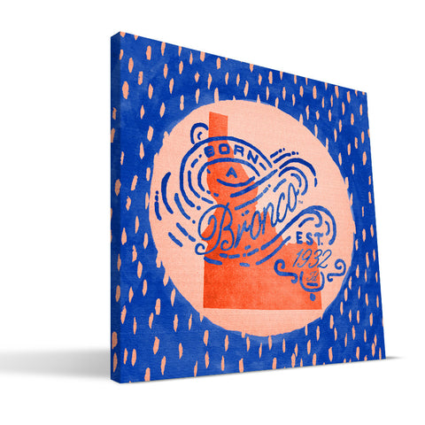 Boise State Broncos Born a Fan Canvas Print
