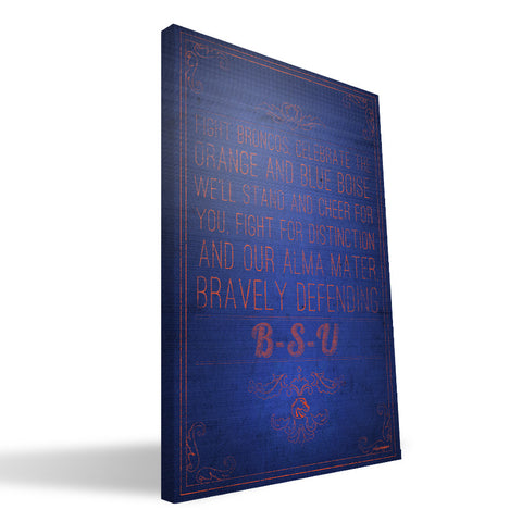 Boise State Broncos Song Canvas Print