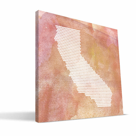 California State Hearts Canvas Print