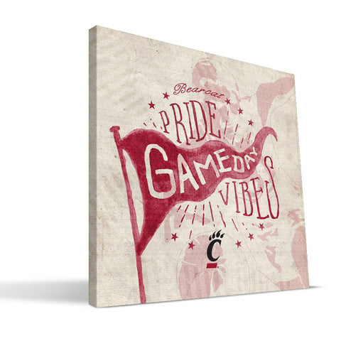 Cincinnati Bearcats Gameday Vibes Canvas Print