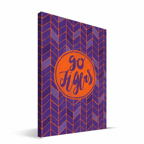 Clemson Tigers Geometric Canvas Print