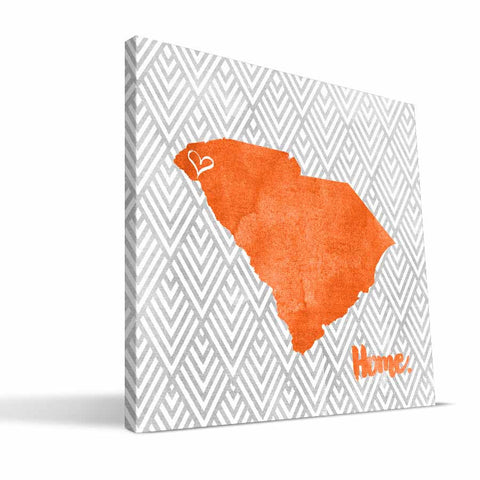 Clemson Tigers Home Canvas Print