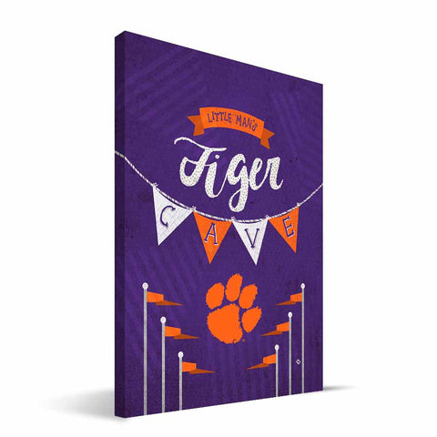 Clemson Tigers Little Man Canvas Print