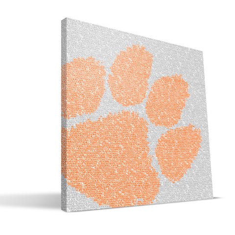 Clemson Tigers Typo Canvas Print