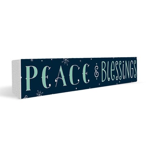 Peace & Blessing Rectangular Shelf Block