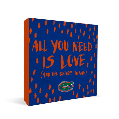 Florida Gators All You Need Square Shelf Block
