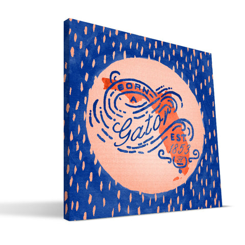 Florida Gators Born a Fan Canvas Print