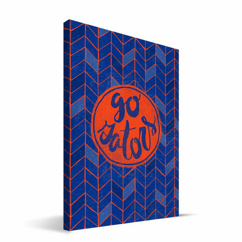 Florida Gators Geometric Canvas Print