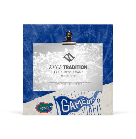 Florida Gators Gameday Vibes Picture Frame with Clip