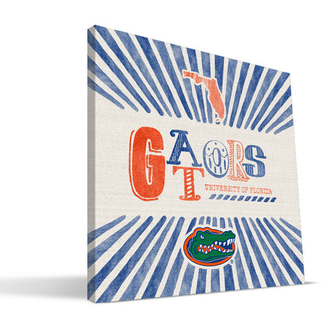 Florida Gators State Canvas Print