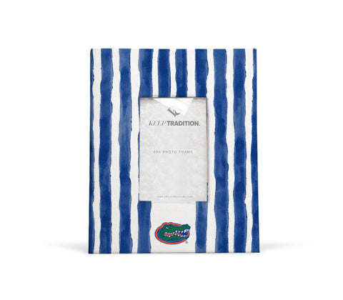 Florida Gators School Stripes Picture Frame
