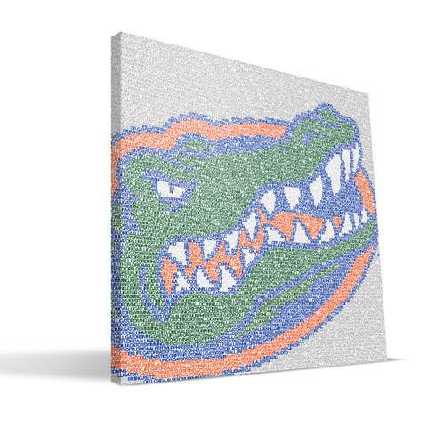 Florida Gators Typo Canvas Print