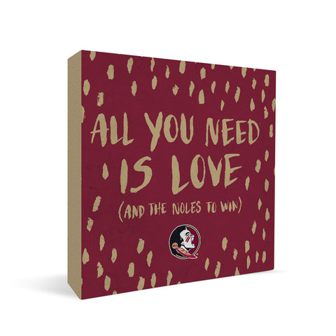 Florida State Seminoles All You Need Square Shelf Block