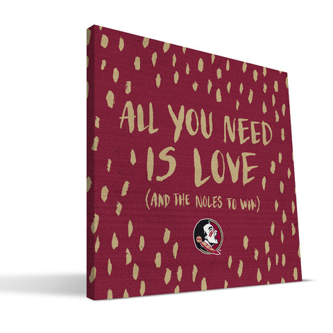 Florida State Seminoles All You Need Canvas Print