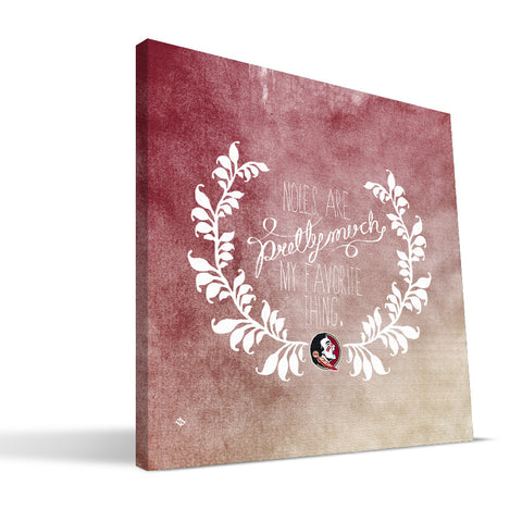 Florida State Seminoles Favorite Thing Canvas Print