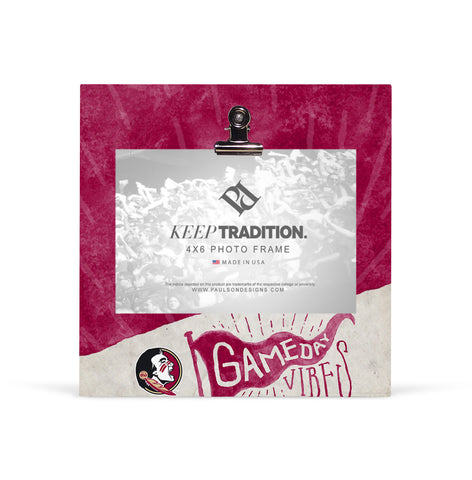 Florida State Seminoles Gameday Vibes Picture Frame with Clip