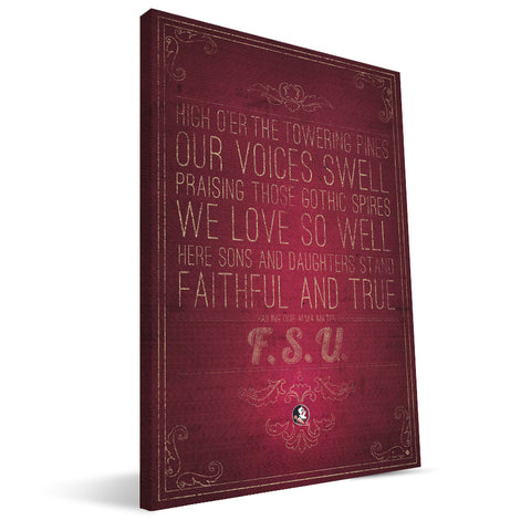 Florida State Seminoles Song Canvas Print