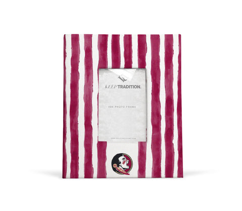 Florida State Seminoles School Stripes Picture Frame