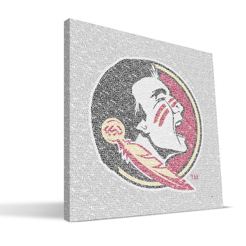 Florida State Seminoles Typo Canvas Print