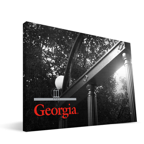 Georgia Bulldogs UGA Arch Canvas Print