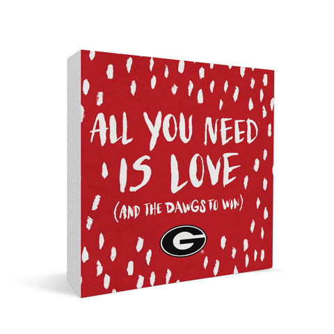 Georgia Bulldogs All You Need Square Shelf Block