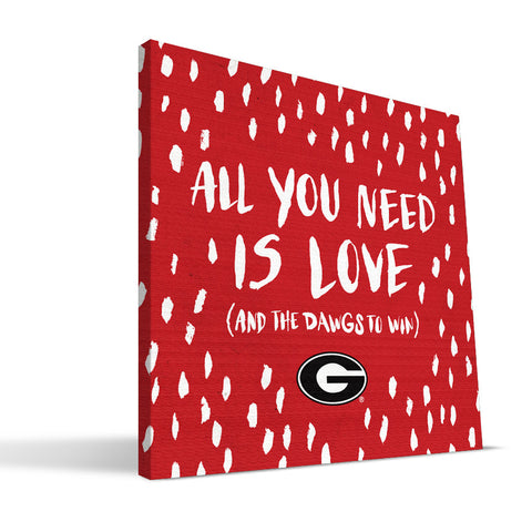 Georgia Bulldogs All You Need Canvas Print